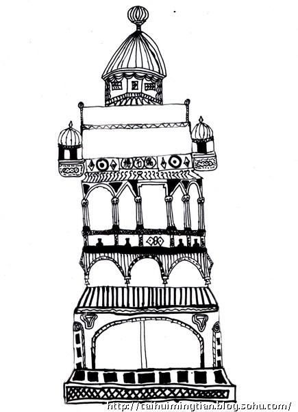 手绘儿童画城堡