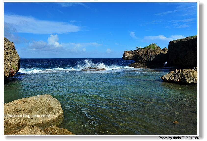 海边风景蛋糕图片