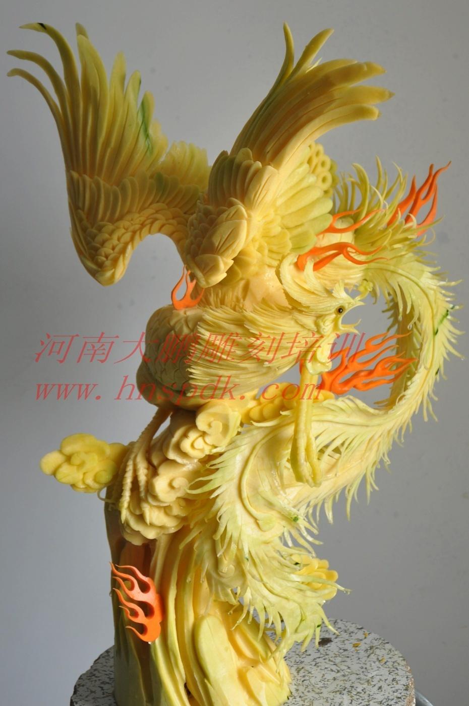 大鹏食品雕刻-火凤凰