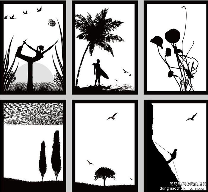 装饰画图片 黑白装饰画图片素材下载图片