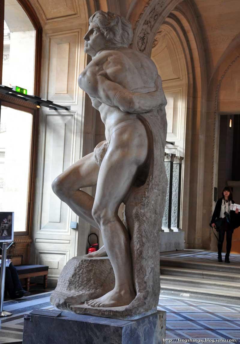 风尚设计欧洲考察之法国卢浮宫雕塑馆艺术大师米开朗基罗...