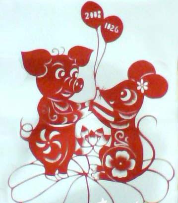 美术剪剪纸刻画动物场景画