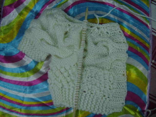 毛衣编织款式/手工编织毛衣铜钱花形/编织交流