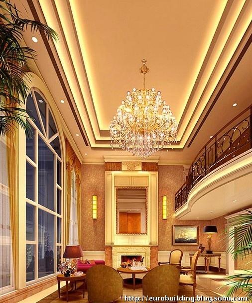 欧式别墅效果图设计大堂之二