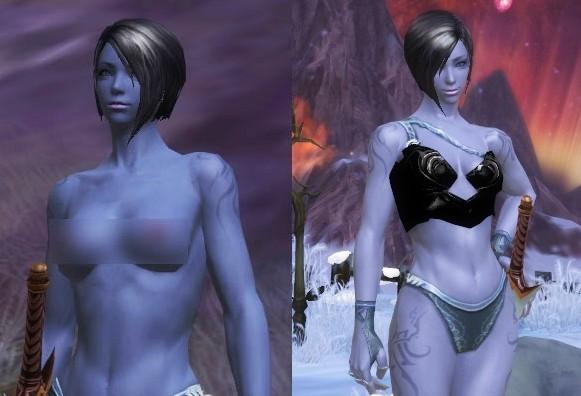 人体裸照视_盘点那些走光的网游 裸体补丁是人体艺术?