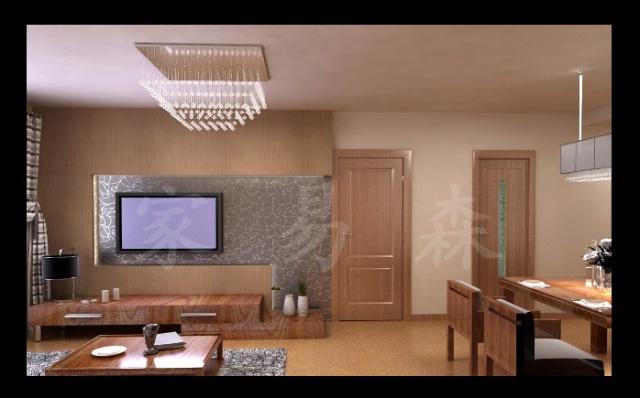 进口软木背景墙效果图