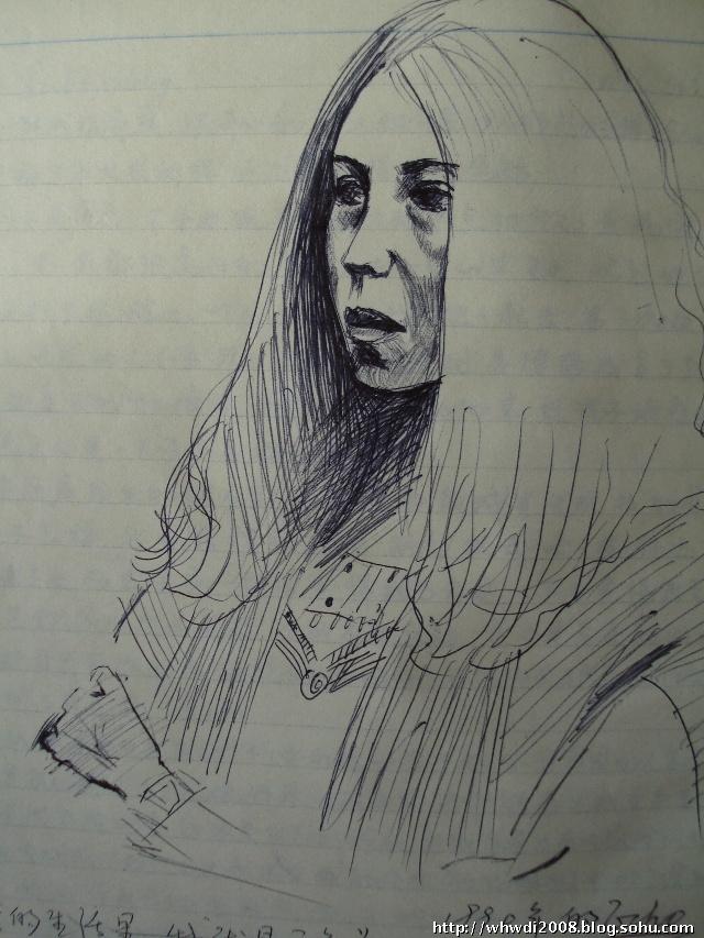 平安校园的铅笔画