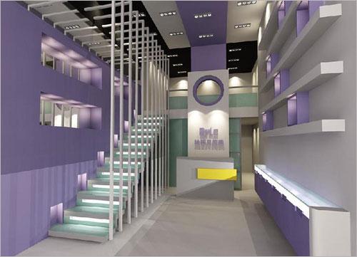 美容院的店面设计 工装装修效果图施工10万个为什么