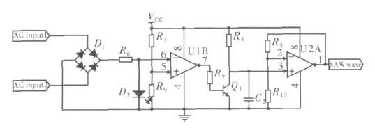 单相交流力矩电机交流电过零点检测和同步锯齿波发