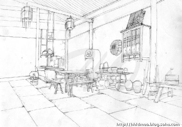 简单动漫场景手绘图片-动漫卡通手绘图片-动漫场景手绘-宫崎骏动漫