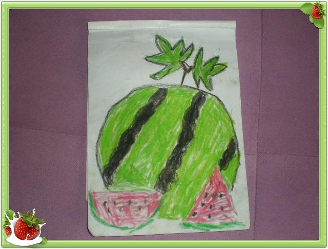 儿童桃树画
