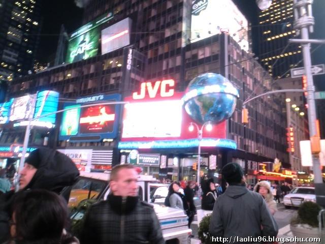 热闹非凡的纽约时代广场
