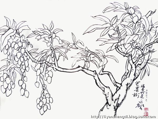 花卉树木速写