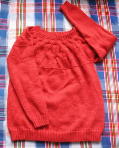 叶子花毛衣编织图解