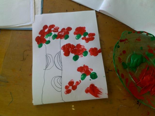 手指印画-大班 幸福的童年-搜狐博客