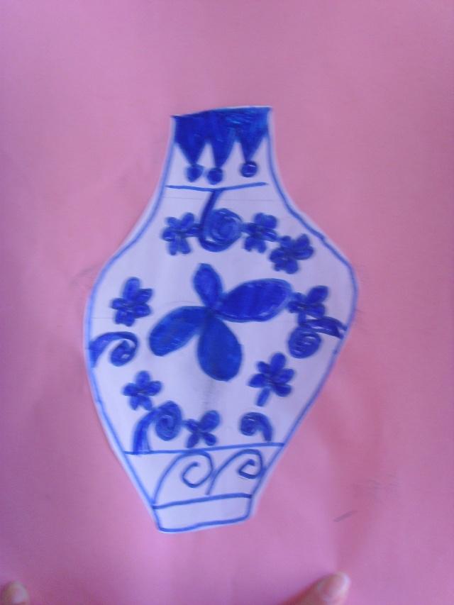 青花瓷幼儿园绘画 步骤