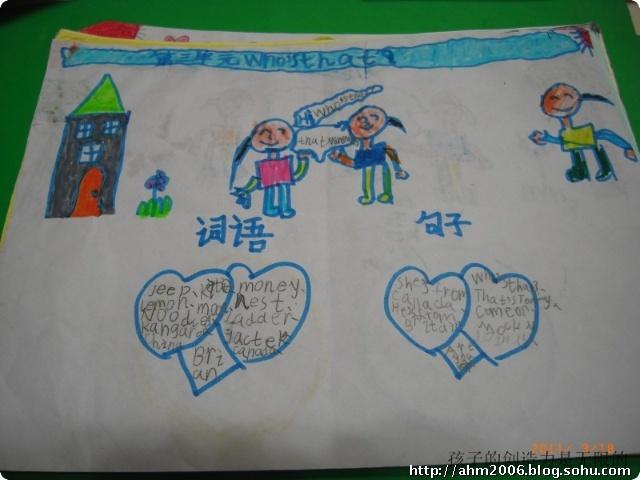 二年级英语小报展示(一)