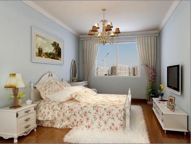 德胜门西大街72平米2居室田园风格 实创装饰装修