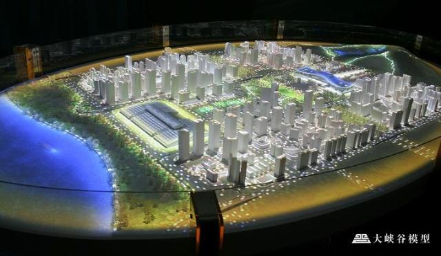 青岛西海岸规划馆,从展览馆西门进入展厅