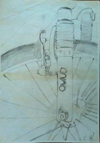 自行车内部构造图解素描