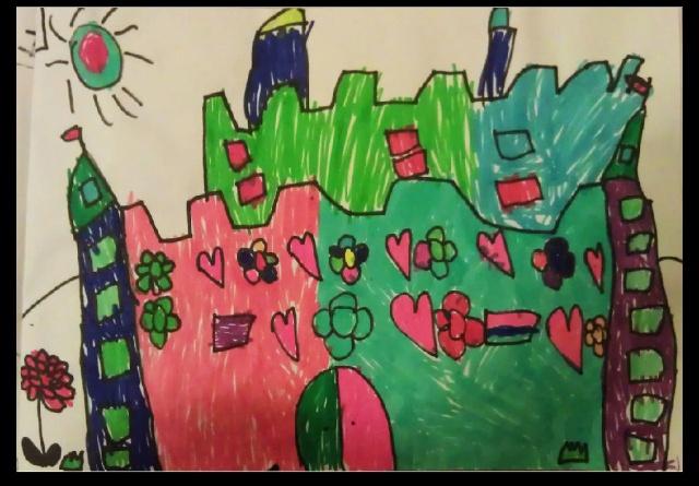 幼儿园中班的美术作品