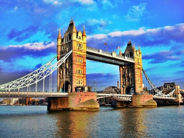 英国伦敦塔桥-桥梁邮苑-我的搜狐