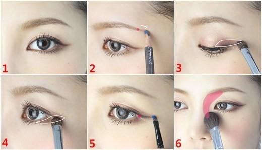 常见的几种眼影画法一网打尽!