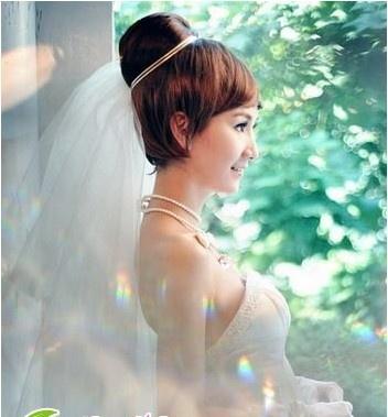 短发   新娘发型图片   短发发型也能打造出好看的新娘发