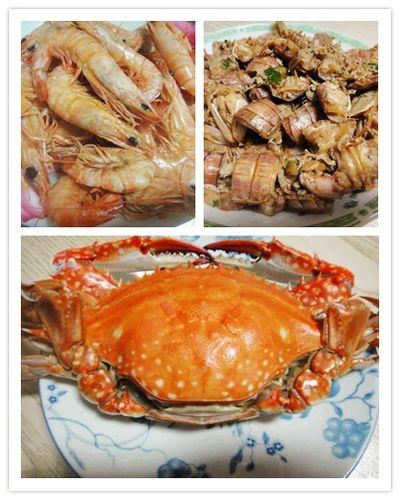 伏季休渔结束辣,又是吃海鲜的好时节,这是昨天的晚餐,白灼虾,葱姜