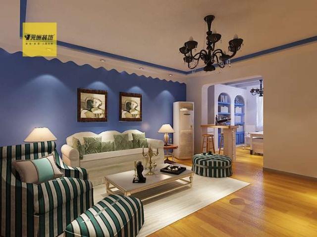 芳馨园120平米地中海风格装修案例欣赏