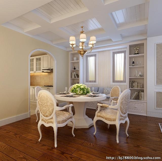 孔雀城御园120平简约欧式装修设计效果图--客厅设计