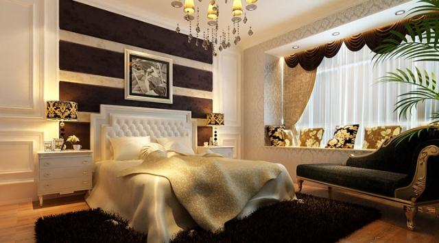 装饰公司-80后夫妻8万装90平精致奢华两居室--卧室装修效果图