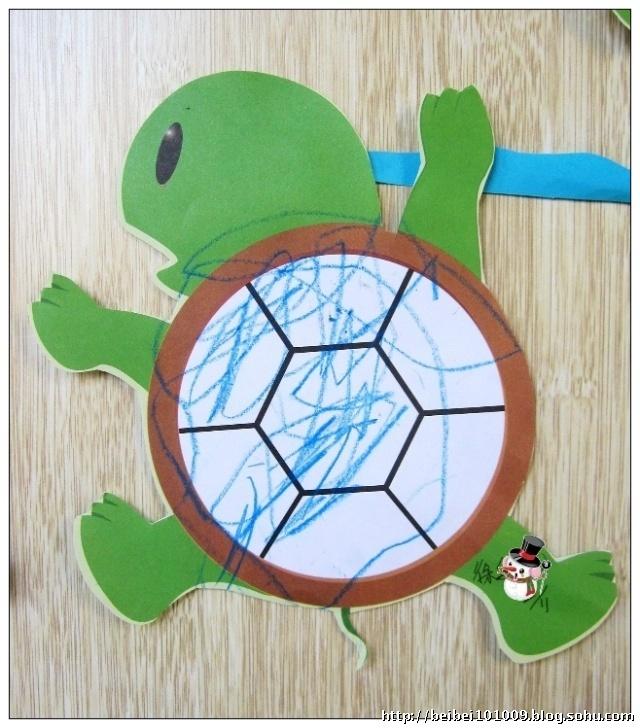 树叶手工制作图解小乌龟
