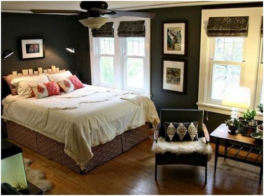 卧室装修效果图)   卧室装修小清新风来袭!天蓝色与纯白相遇,