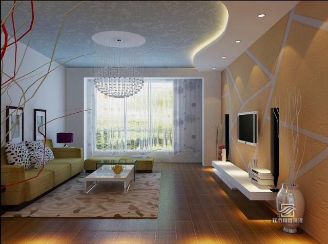 现代简约时尚客厅装修效果图大全2012图片清