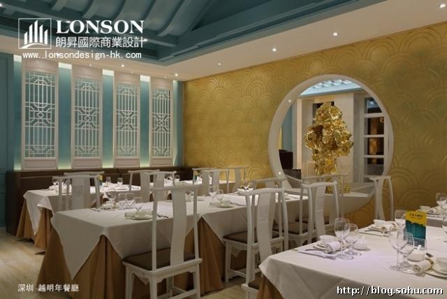 餐厅还另设有半开放式包房与独立包房,包房内设计亦沿袭使用统一的