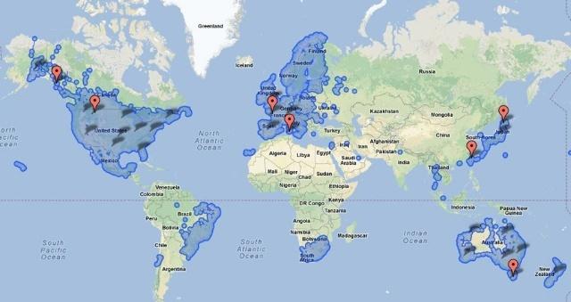 谷歌地图可以查到的领土:已经扩大到讲英语的国家