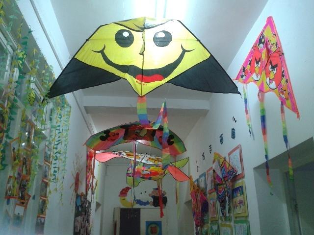 """师大幼儿园举办了""""风筝展""""活动"""