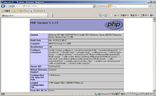 phpinfo页面