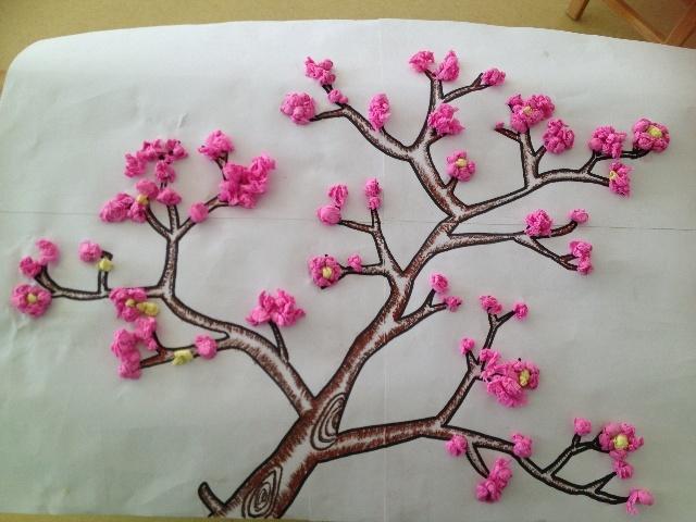 皱纹纸做桃花步骤图解