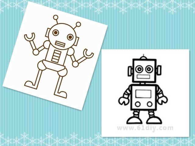 今天我们第一节活动学习了律动《机器人》。小朋友们平时看过很多的机器人,可你知道机器人是怎么动的吗?对啦,要一走一停,一动一停的,一起来当小小机器人吧!孩子们随着音乐学习着机器人的走路、握手、点头、跳舞等动作,体验模仿活动的快乐。第二节活动是绘画《好看的机器人》。