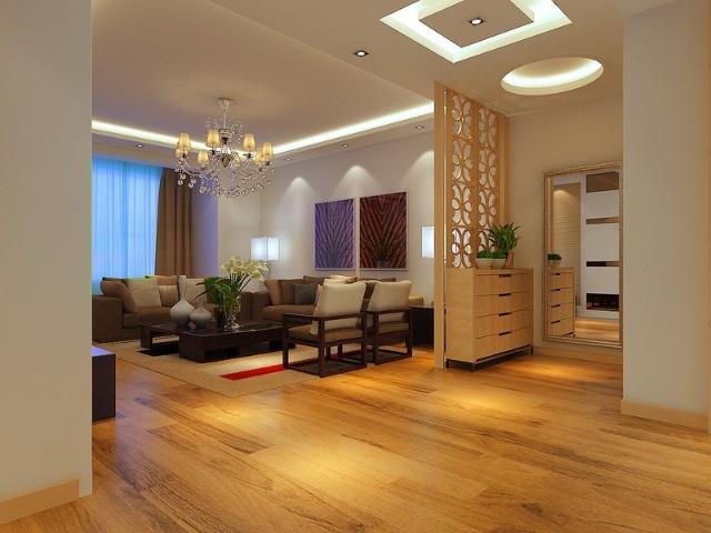 客厅效果图-简单、安静的设计特点~~【沈阳方林装饰装修公